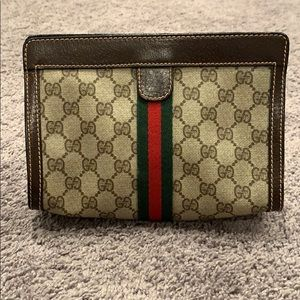 Vintage Gucci Cosmetic Case Clutch